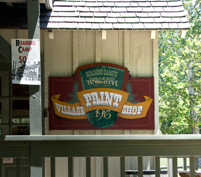 Roaring Camp Village Print Shop